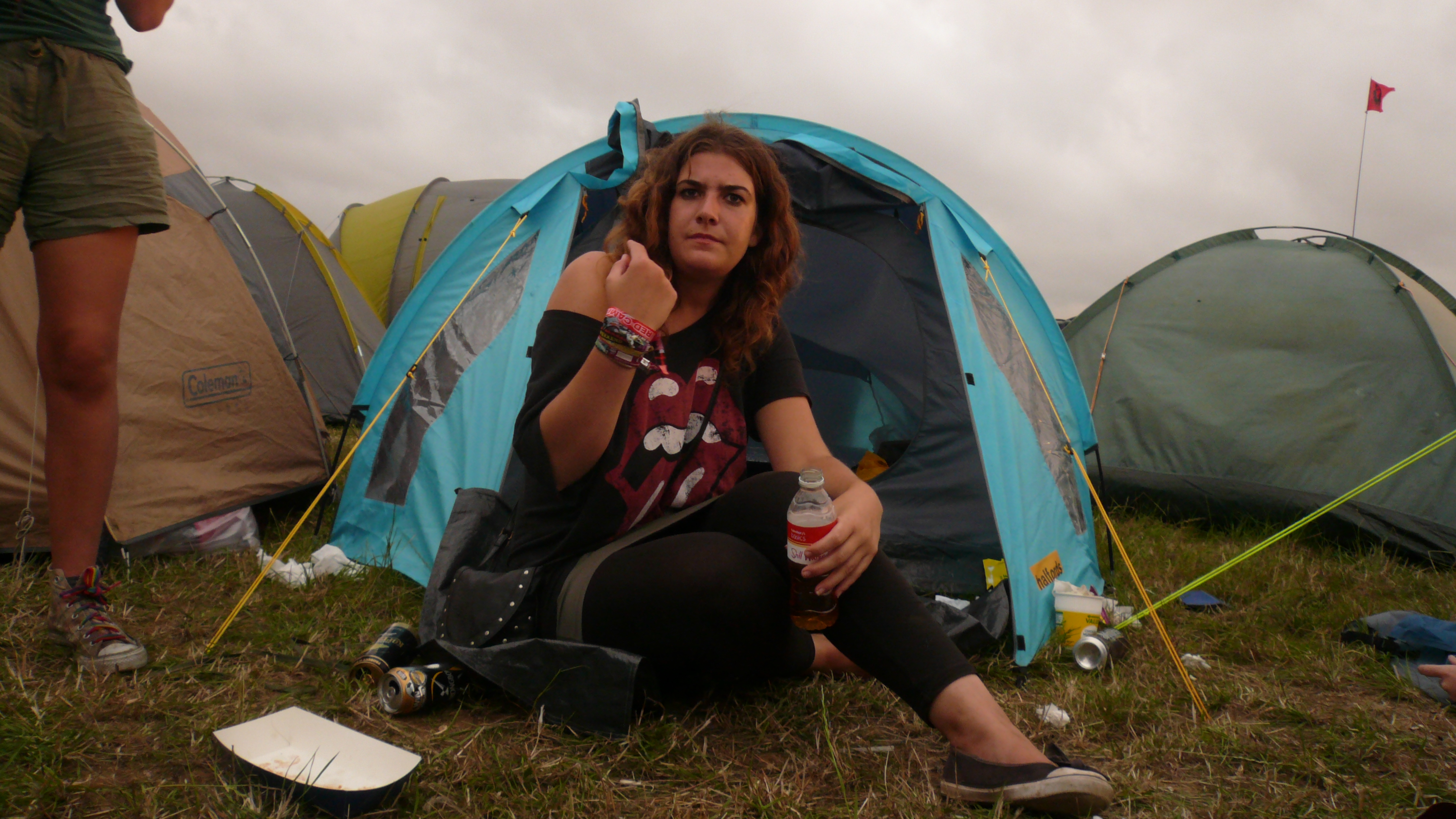Peeing women at festivals
